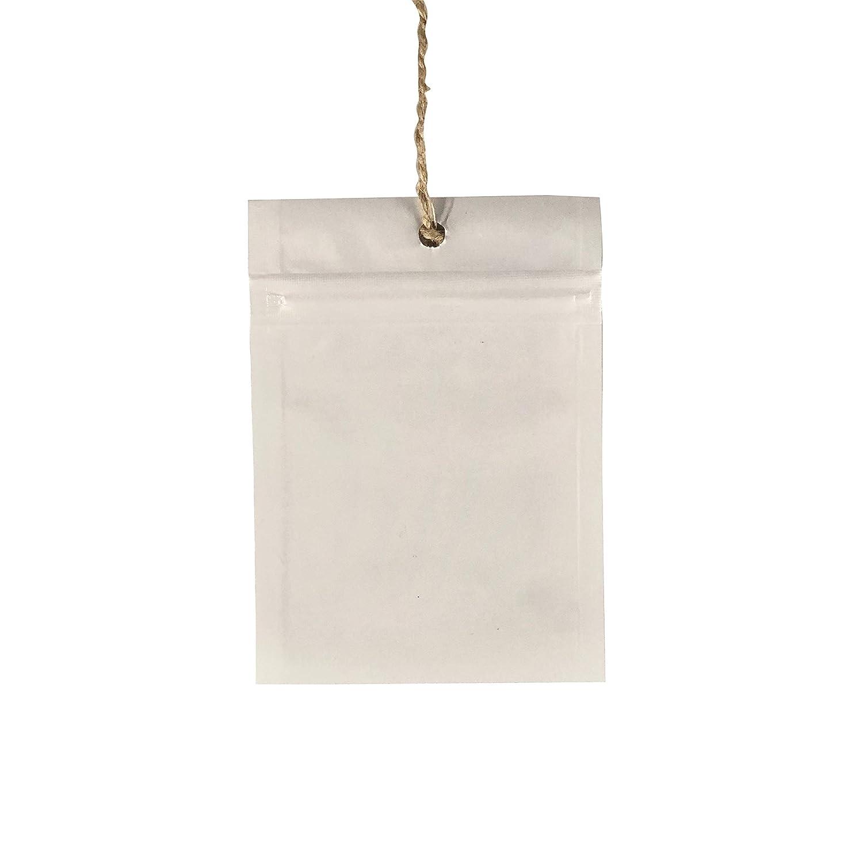 14 x 18 mm Yanan Bolsas con Cierre Zip Blancas 50 Piezas Bolsa Zip Sellada Grande 14-18 mil/ímetros Reutilizable Pl/ástico Blanco quita Olor para Embalaje Comida Joyer/ía