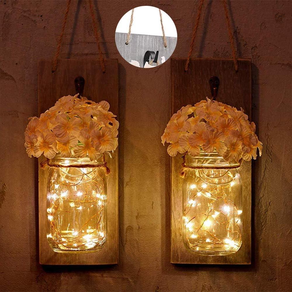 1//3//6Pack Solar Mason Jar Lid String Fairy Lights Outdoor Garden Lamps Decor UK