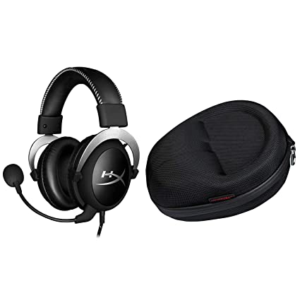 320b86cab55 Amazon.com: HyperX Cloud Pro Gaming Headset - Silver and Official Cloud  Carrying Case: Computers & Accessories