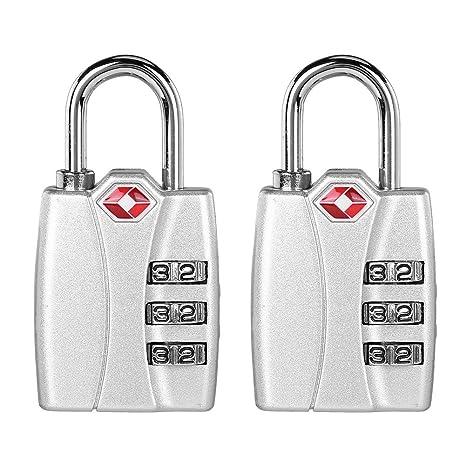 Candado Trendyest 2 piezas TSA Código de aduanas cerraduras de viaje equipaje maleta combinación candados,
