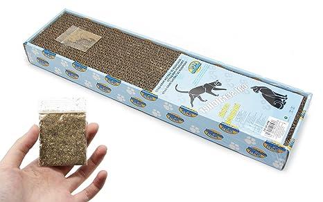 BPS Rascador Gatos Rascador Tabla de Cartón Papel Incluido Hierba Gatera 3 Modelos Elegir 49 x