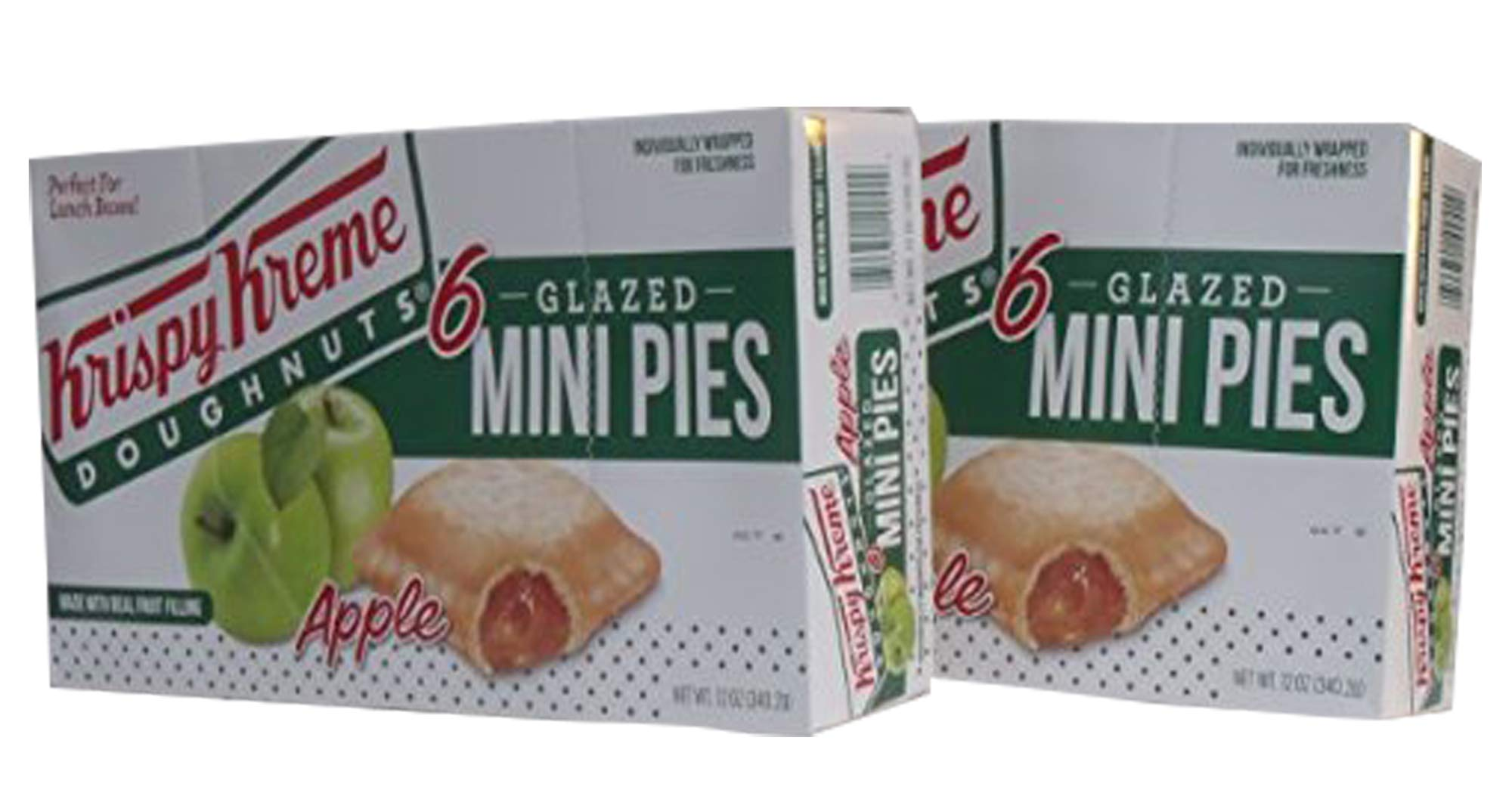 Krispy Kreme Glazed Mini Pies - 6-2 oz Glazed Mini Pies Per Box - Two Boxes: Apple by Krispy Kreme