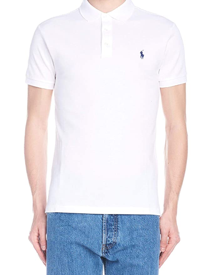 Ralph Lauren Hombre 710541705008 Blanco Algodon Polo: Amazon.es ...