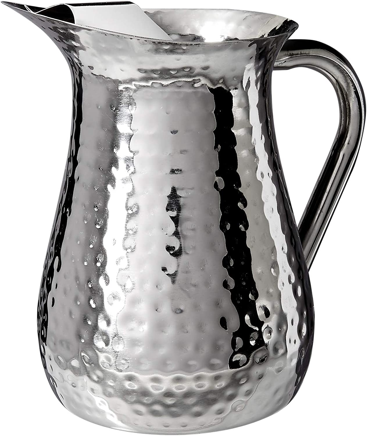 Elegance Hammered 72-Ounce Stainless Steel Pitcher