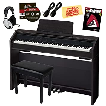 Casio Privia PX 860 Digital Piano Bundle With Furniture Style Bench,  Headphones,