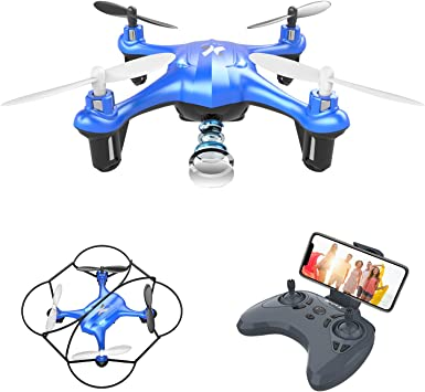 Nuova Versione WINGLESCOUT RC Quadcopter Drone con Fotocamera 720P WiFi Elicottero Live Video Controllo Remoto//modalit/à di Controllo della gravit/à per Bambini