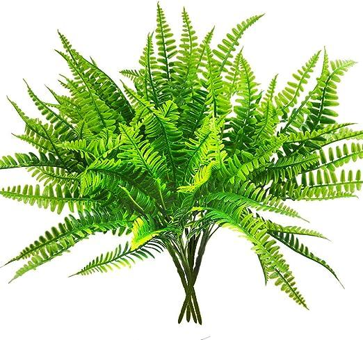 Boston - Arbustos artificiales para plantas de fermentación para interiores y exteriores, jardín, oficina, veranda, decoración de boda: Amazon.es: Jardín