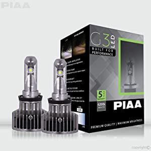 PIAA 26-17408 G3 H8 LED Bulb (6200K 12/24V 23W Twin Pack)