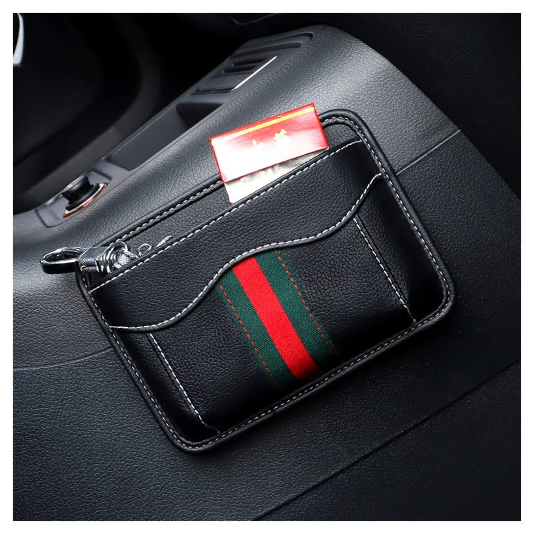 HongTeng Car Seat Storage Bag Multi-Function Storage Bag Leather Material (Color : B)
