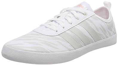 adidas Vs Advantage, Chaussures de Fitness Femme, Blanc (Ftwbla/Plamet/Ftwbla 000), 40 EU