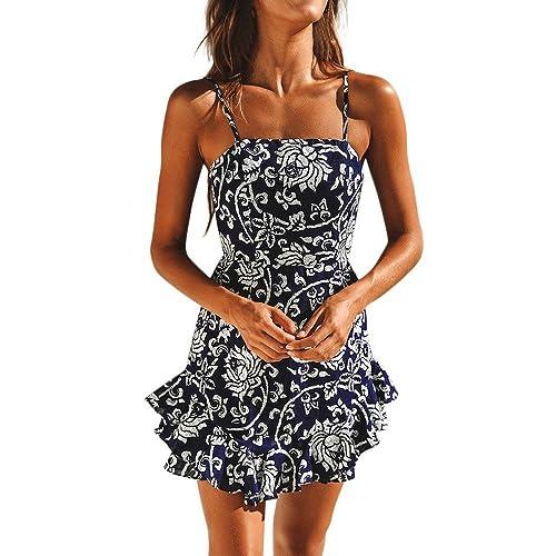 WINWINTOM Sale!!Kleider Damen Festlich Hochzeit,Rockabilly Blumenmuster  Festliche Sommerkleid,Frauen Sommerkleid 27f95630e2