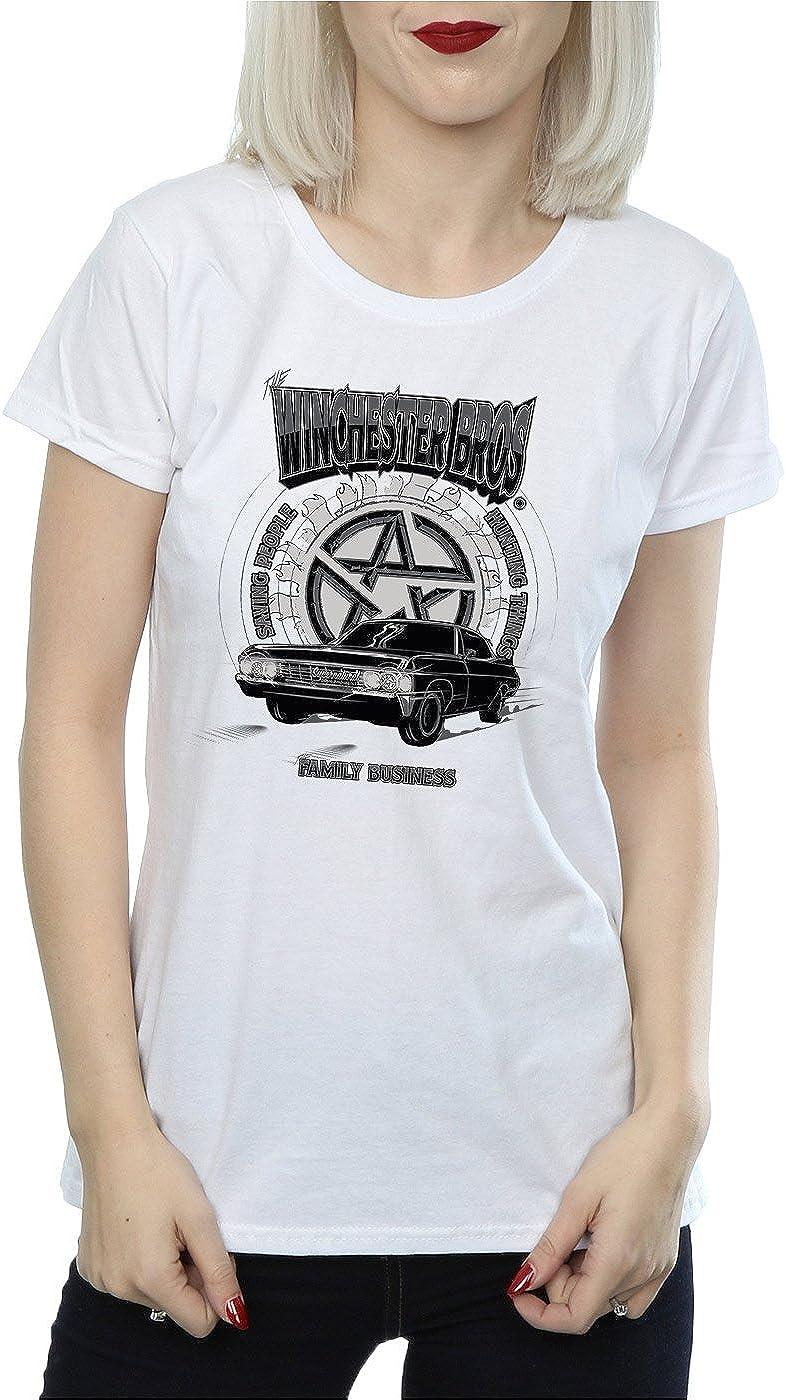 Supernatural Mujer Winchester Bros Camiseta: Amazon.es: Ropa y accesorios