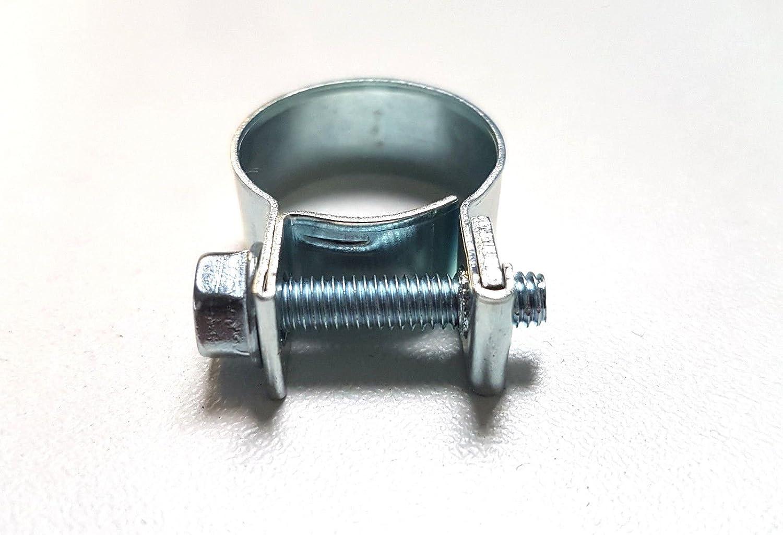 10x Schlauchschellen Mini Schellen Industriequalit/ät W1 verzinkt 16-18mm