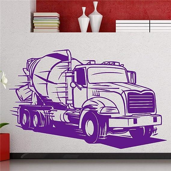 zhuziji Big Truck Wall Decal Semi Truck Cemento Transporte ...