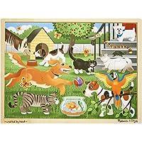 Melissa & Doug 19059 Ahşap Yapboz, Evcil Hayvanlar, 24 Parça