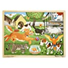 Melissa & Doug Pets at Play Wooden Jigsaw Puzzle With Storage Tray (24 pcs)