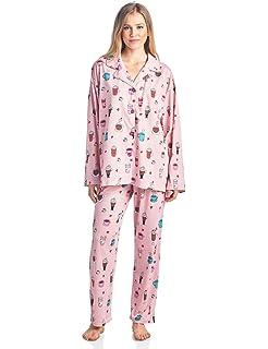BHPJ By Bedhead Pajamas Womens Brushed Back Soft Knit Pajama Set