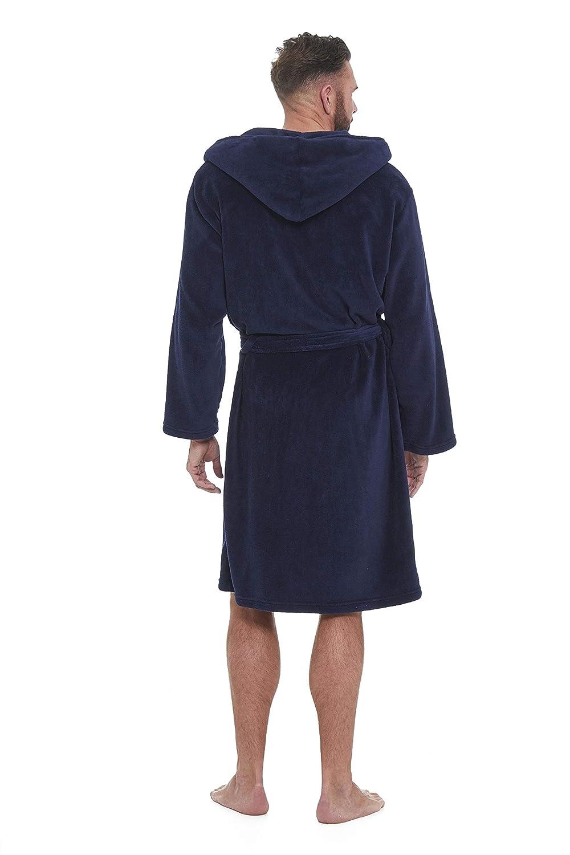 STONEBRIDGE Mens Luxury Super Soft Men Dressing Gown Hooded Bathrobe