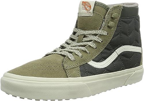chaussures vans verte homme