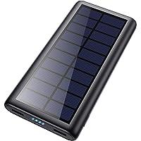 HETP Cargador Solar 26800mAh Batería Externa Power Bank con 2 USB Puertos de Salida Simultánea Solar Powerbank Carga…