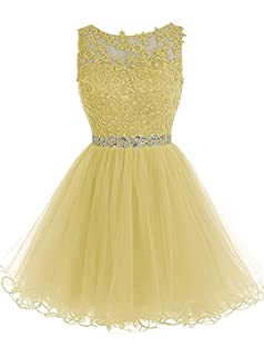 2637232dcca ynqnfs Beaded Applique Short Prom Homecoming Dresses Tulle Party Evening  Gowns