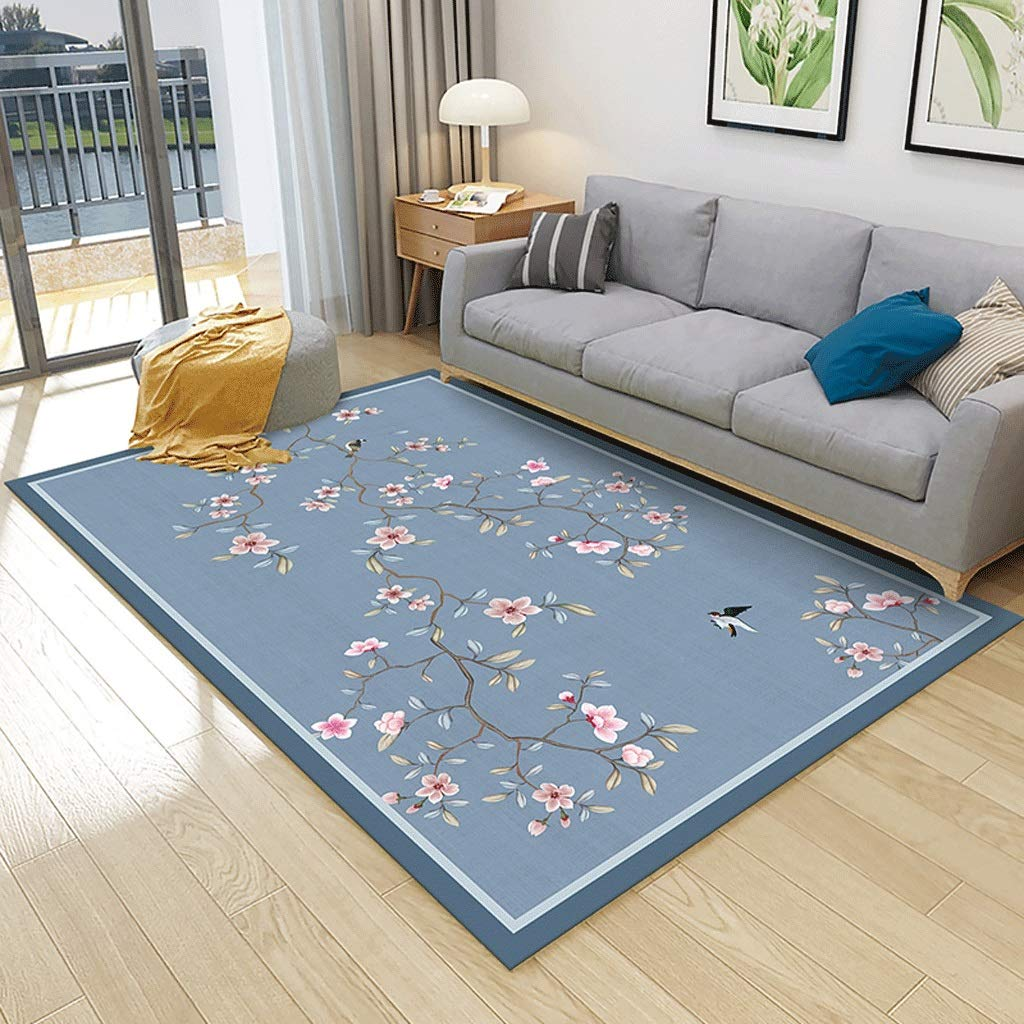 近代的なミニマリスト北欧のカーペットリビングルームのカーペットのベッドルームフルルームのホームベッドサイドのコーヒーテーブルの毛布 (色 : 青, サイズ さいず : 200cm×300cm) 200cm×300cm 青 B07L5L7Z3G