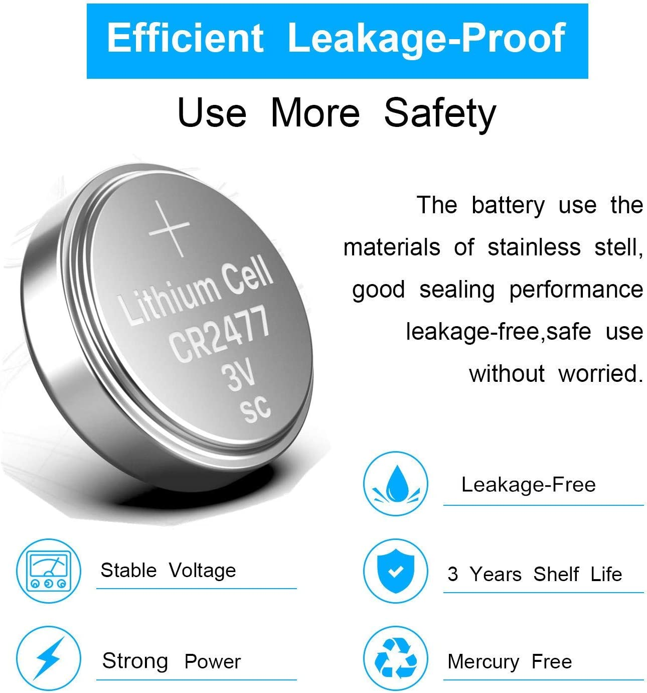 10 X Cr2477 Lithium Batteries 3v Elektronik