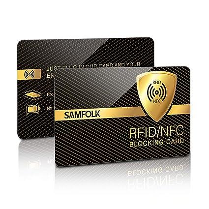 Tapa de la cerradura 12x RFID con tarjeta de crédito, tarjeta de identificación, tarjeta de débito, pasaporte, tarjeta sanitaria, etc. - 100% escudo ...