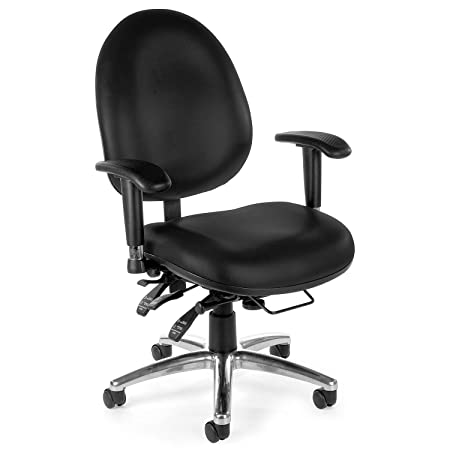 OFM 24-Hour Office Chair – 20 to 23 Seat Height – Black – Black