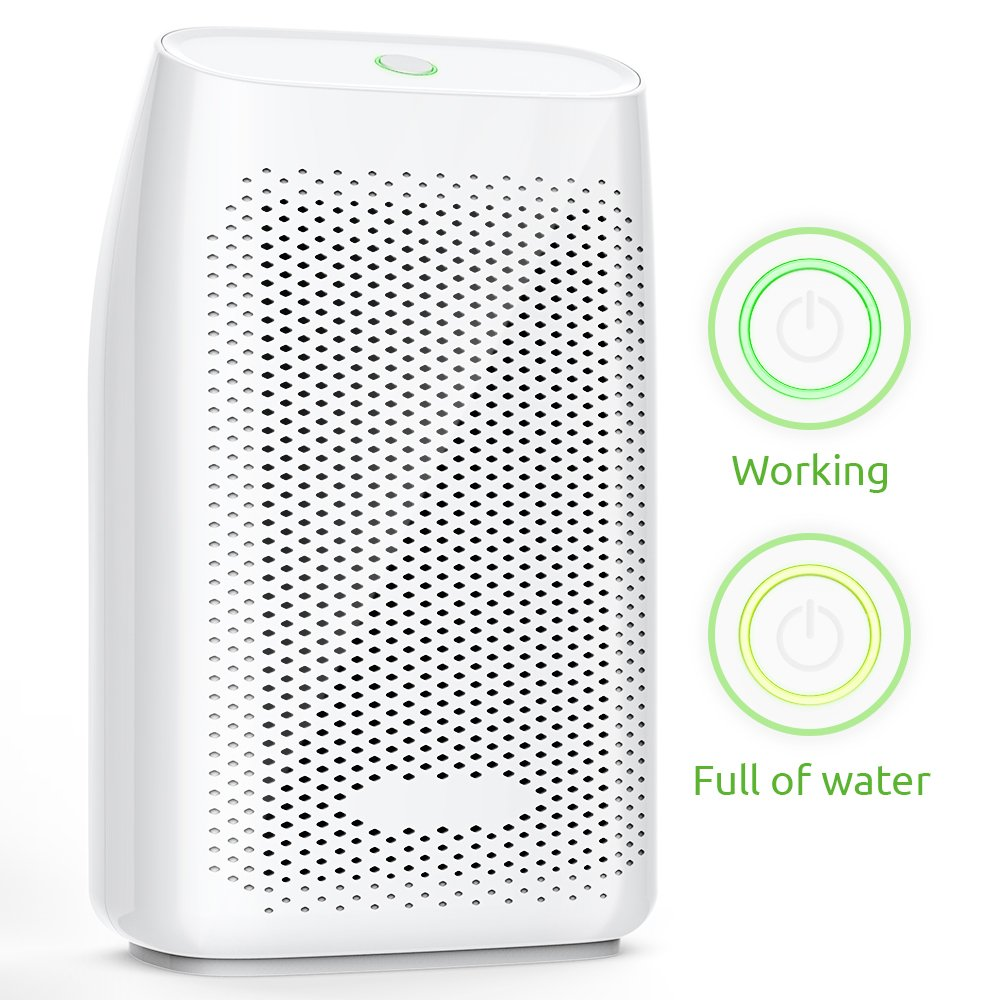 Hysure Dehumidifier,700ml Compact Deshumidificador 1200 Cubic Feet(215 sq ft) Quiet Room Dehumidifier, Portable Dehumidifier Bathroom Dehumidifier for Dorm Room, Baby Room, Home