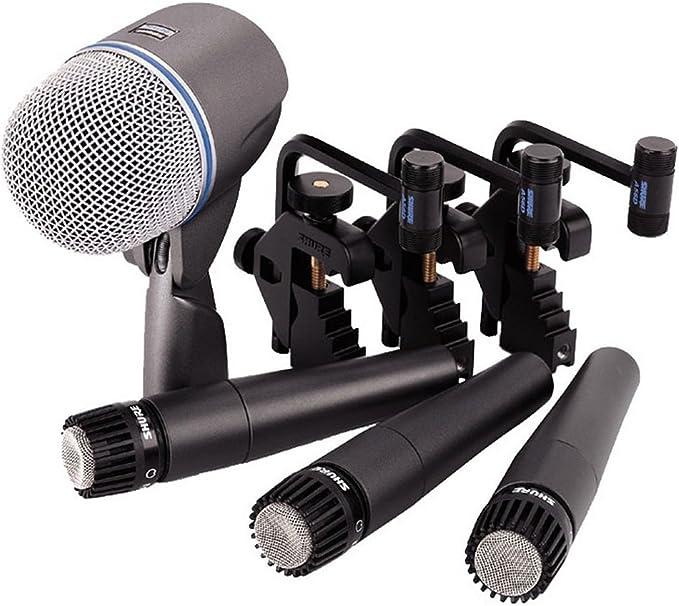 Shure Dmk57 52 Drum Microphone Kit Musical Instruments Amazon Com