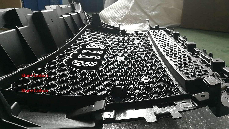 gl/änzender schwarzer Rahmen schwarzer Ring mit Quattro FidgetGear RS3 Style Grill f/ür Audi A3 2009-2012