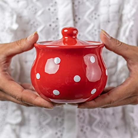 Amazon.com: City to Cottage - Azucarero de cerámica con tapa ...