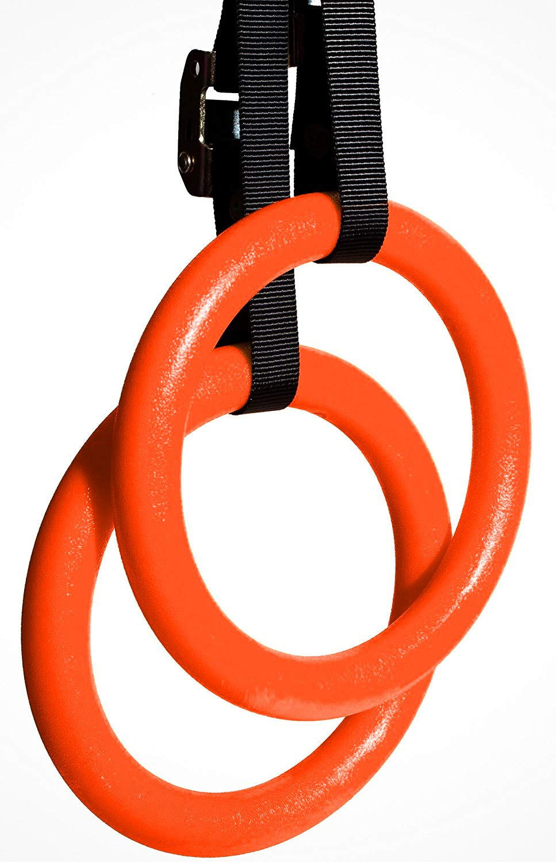 Outroad 体操リング 筋肉 ボディウエイト トレーニング クロストレーニング 筋力トレーニング 調節可能なストラップ付き ジム用