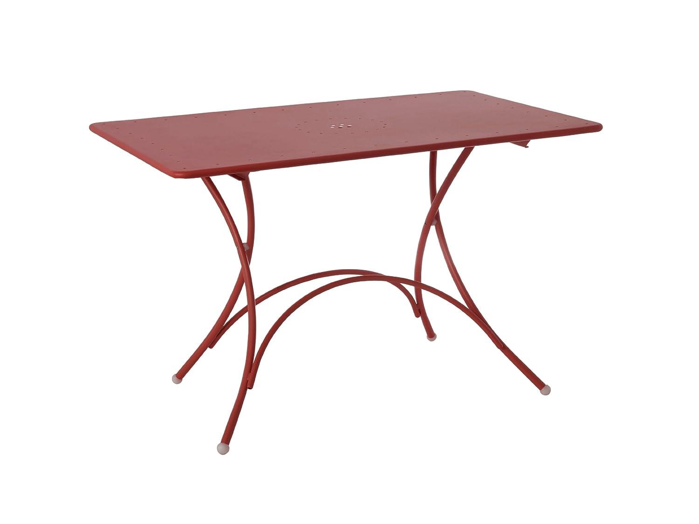 Emu 309034400N Pigalle Klapptisch 903, 120 x 76 cm, pulverbeschichteter Stahl, rot