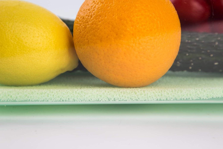 4 paquetes de estantes de silicona de grado alimenticio para mantener frescos y almacenar alimentos, 45 x 30 cm verde claro: Amazon.es: Hogar