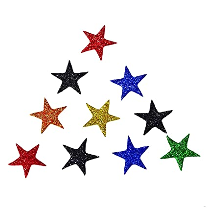 Handmade Craft 10 Pieces Star Design Patch Thermocol Diy Sewing