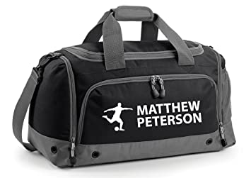 iLeisure Boys Personalised Football Holdall Personalised Printed Holdall  with Your Name or club Kids Boys Mens 8eefe89b733cd