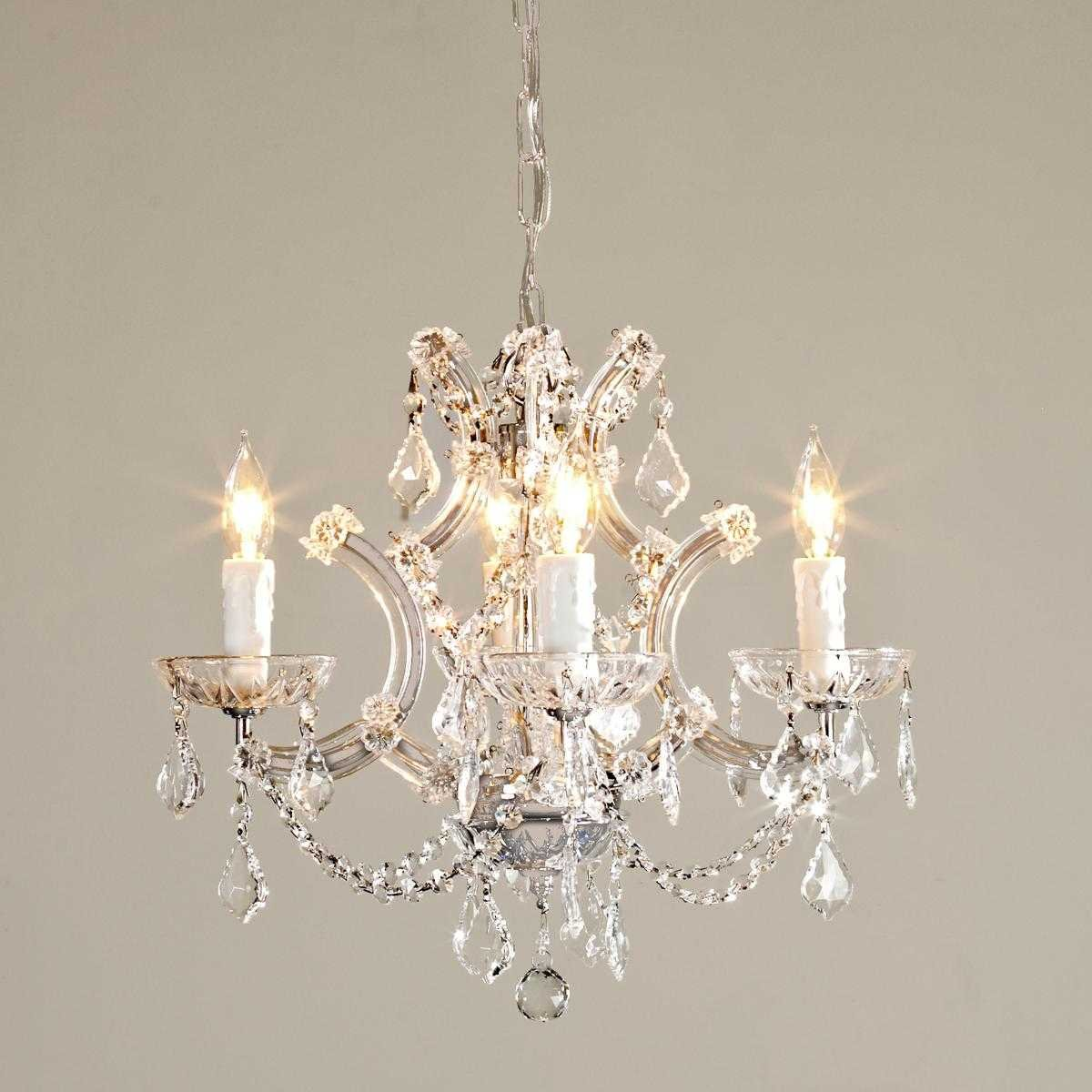 """Saint Mossi Crystal Maria Therese Chandelier Lighting 4 Lights H17"""" W18''"""