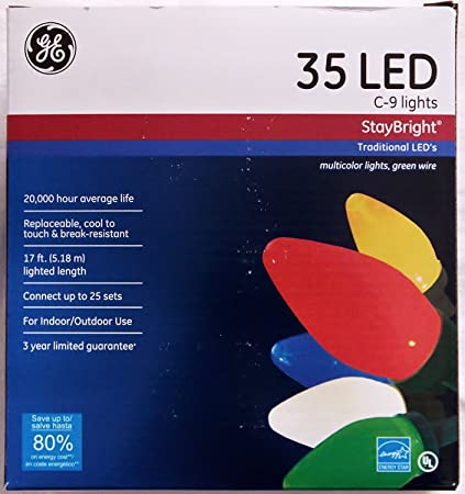 ge staybright multi colored c9 led string set 35 count pack of 1