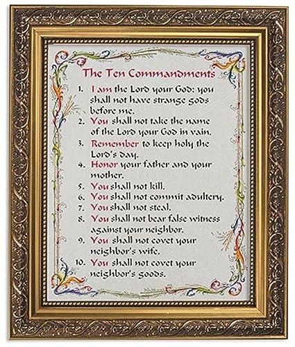 Amazoncom Gerffert Collection The Ten Commandments Framed Writen