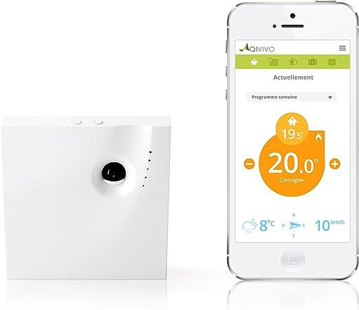 Qivivo QTH01-GW-EU Termostato conectado el smartphone controlable ...