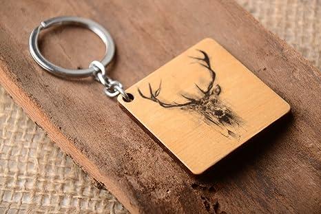 Llavero de madera hecho a mano accesorio artesanal regalo ...