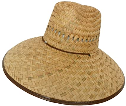 Headchange Wide Brim Lifeguard Hat Mexican Straw (Brown a89d54a0811