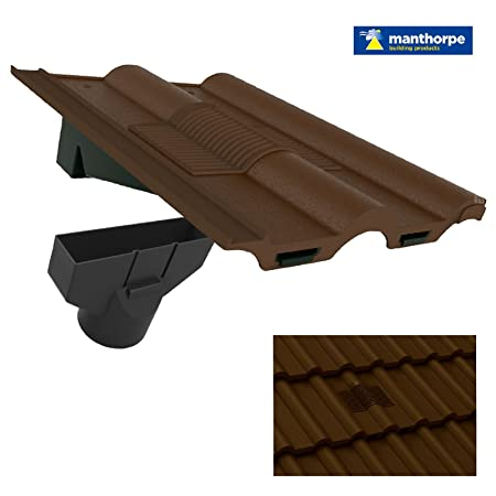 Dark Brown Double Roman Roof Tile Vent U0026 Adapter / Marley Redland Russell  Lagan