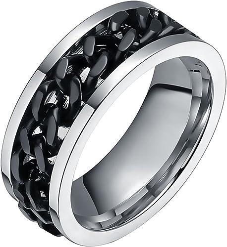 FANSING Men Wedding Bands Women 8mm Titanium Rings Black Size 6-14