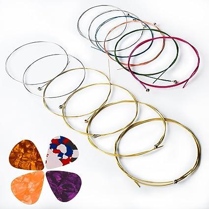 Cuerdas para guitarra acústica, kinbom 2 juegos de 6 cuerdas para ...