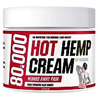 Hot Hemp Cream - 80000MG - Arthritis, Carpal Tunnel, Inflammation, Back, Foot, Nerve...