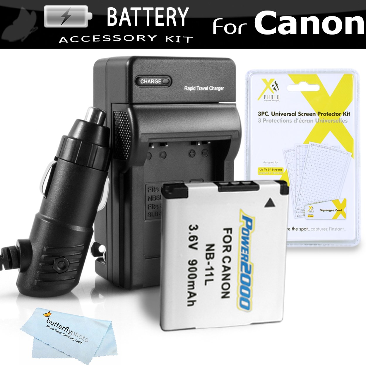 Replacement NB-11L Battery And Charger Kit For Canon Powershot ELPH 180, ELPH 190 IS, ELPH 150 IS, 340 HS, SX400 IS, ELPH 170 IS, ELPH 160, SX410 IS, SX420 IS, ELPH 350 HS, ELPH 360 HS Digital Camera