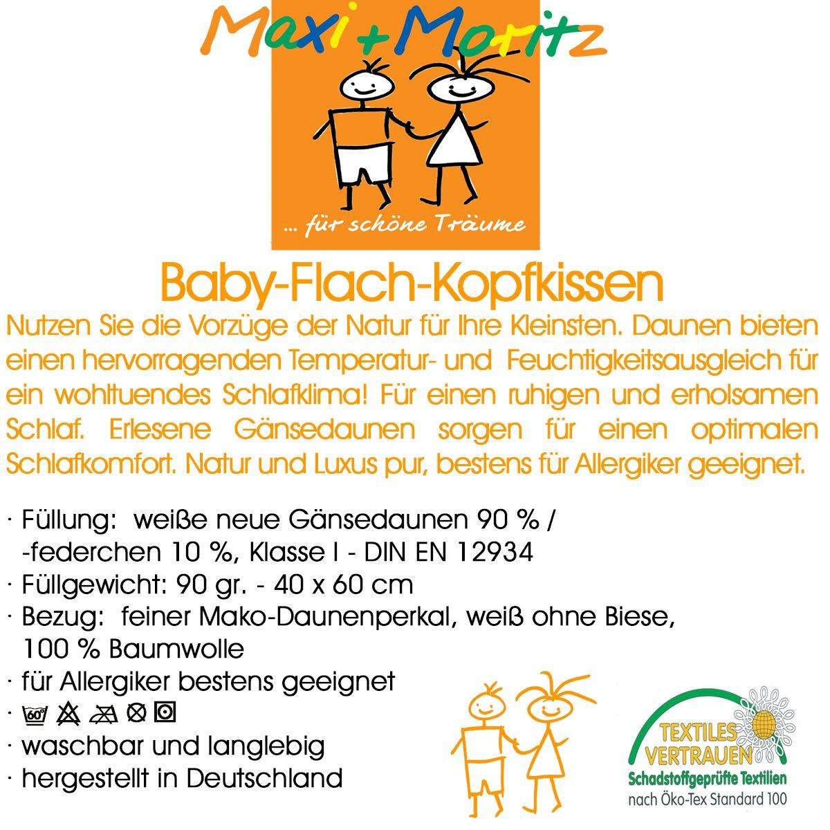 40 x 60 cm Maxi und Moritz Oreiller plat pour b/éb/é